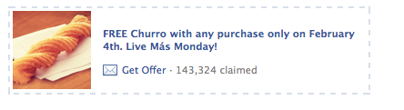 Screen Shot 2013 02 04 at 8.09.39 AM Taco Bell: Free Churro with Any Purchase