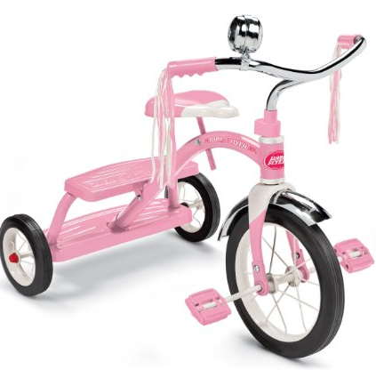 Screen Shot 2013 02 12 at 11.49.43 AM Radio Flyer Girls Classic Dual Deck Tricycle in Pink for $39 Shipped