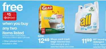 all detergent Target deal Target: All Detergent only $0.07 per Load