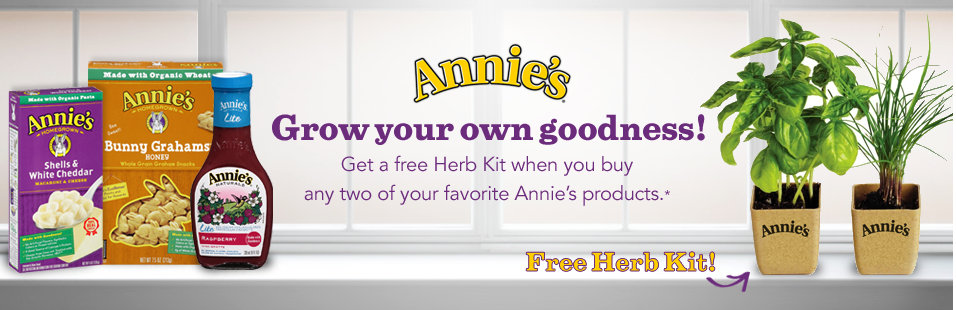 annies FREE Annies Herb Kit + Printable Product Coupons