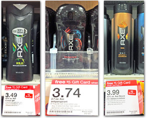 axe Target: Axe Hair and Body Products Gift Card Deal
