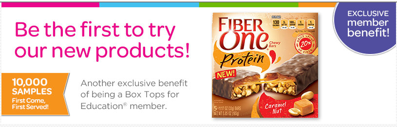 box top Box Top Members: FREE Sample of Fiber One Protein Bars