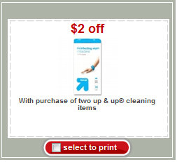clean New Up & Up Cleaning Coupon = Great Deals on Cleaning Products at Target
