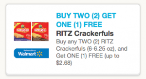 crackerfuls New Buy 2 Get One Free Ritz Crackerful Printable Coupons + Target Deal
