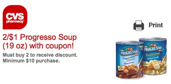 cvs3 Progresso Soup CVS Store Coupon = As Low As FREE