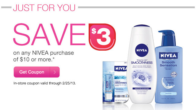 nivea CVS Beauty Club Member Nivea Coupon + Deal Idea