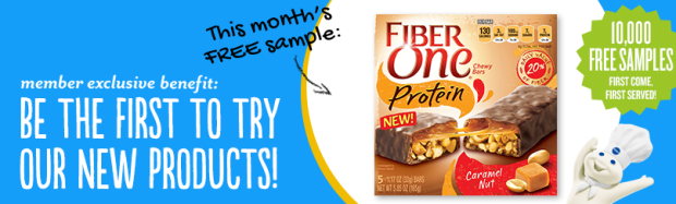 pillsbury Pillsbury Members: FREE Fiber One Protein Bars