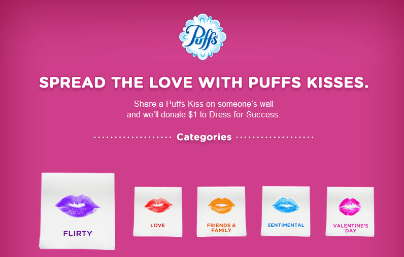 puffs Puffs Coupon Giveaway (Share a Kiss and Get a Coupon)