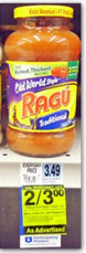 ragu Ragu Pasta Sauce for 80¢ at Rite Aid