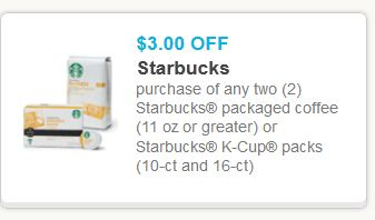 starbucks $3/2 Starbucks Printable Coupon + Walmart Deal