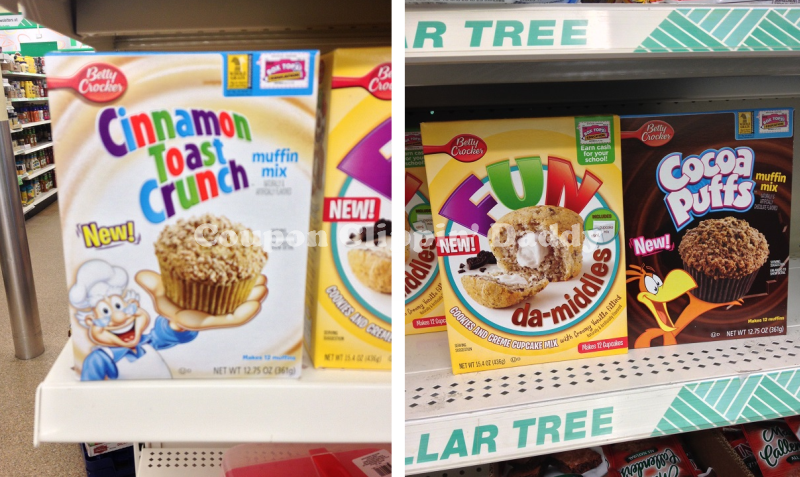 Dollar Tree BC Muffin Mixes Betty Crocker Dessert Mix + Dollar Tree Deal