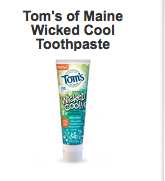 free tom's of maine toothpaste sample