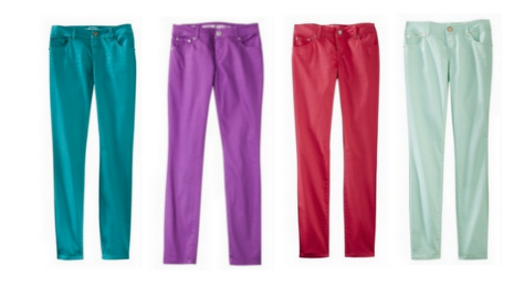 Screen Shot 2013 03 22 at 8.09.49 AM Mossimo Supply Co. Juniors Skinny Pant in Assorted Spring Colors for $15 only