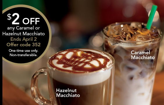 Screen Shot 2013 03 28 at 8.36.10 AM Starbucks Coupon: $2 off Any Hazelnut or Caramel Macchiatos