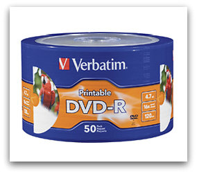 best buy Verbatim 50 Pack White 16x DVD R Discs for $9.99 + Free Shipping