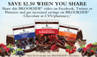 brooks FREE Hersheys Brookside Chocolate at CVS this Week