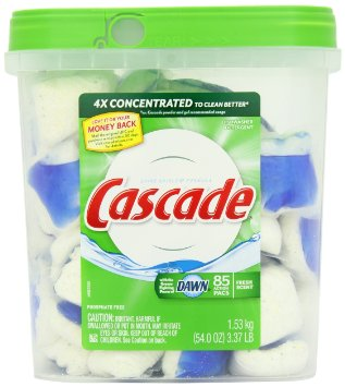 cascade Cascade ActionPacs Dishwasher Detergent Fresh Scent 85 Count for $14.19 Shipped (17 cents each)