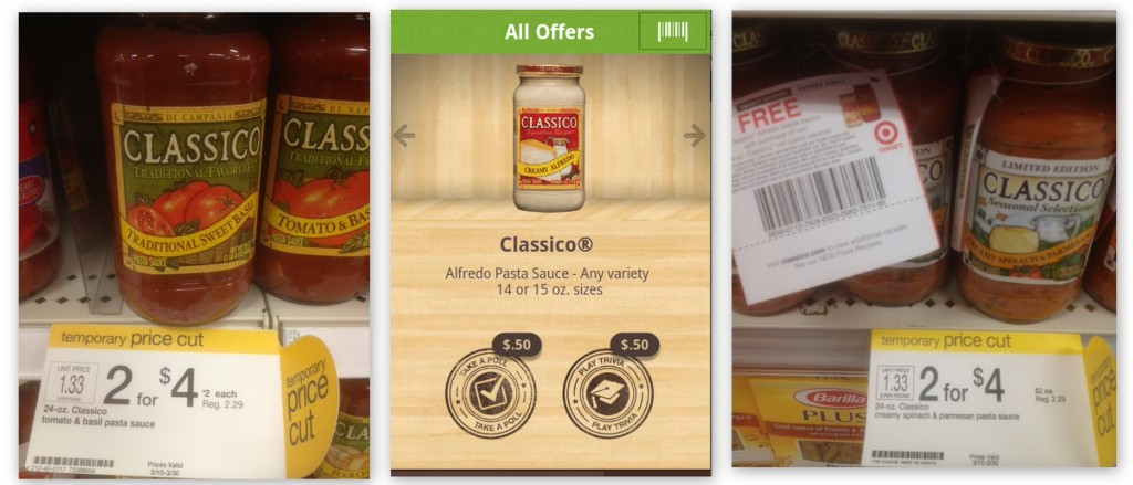 classico 1024x439 Classico Printable Coupon + Ibotta Offer = Pasta Sauce for $1 or Less at Target