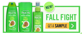 garnier FREE Sample of NEW GARNIER FRUCTIS FALL FIGHT Shampoo and Conditioner
