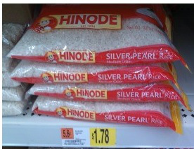 hinode New Hinode Rice Product Coupon = 78¢ Bag (3lb) at Walmart