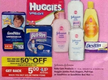 jj Rite Aid: J&J Baby Care Products BOGO 50% Off (Pull Ups for $3.12) Starting 3/17