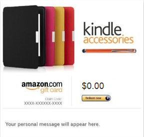 kindle Kindle Accessories Gift Card and Get Back 20% (up to $100)