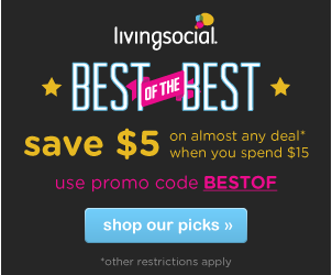 living social coupon Living Social: $5 OFF $15 Promo Code