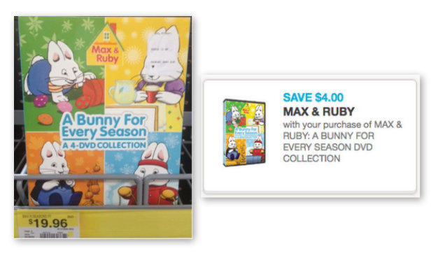 max Max & Ruby DVD Printable Coupon + Walmart Scenario
