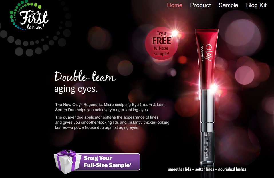 olay FREE Olay Regenerist Micro Sculpting Eye Cream & Lash Serum Duo