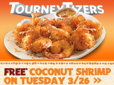 outback FREE Coconut Shrimp with any purchase at Outback Steakhouse on 3/26 (Today Only)