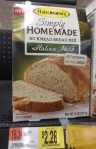 simply homemade Fleischmanns Simply Homemade Bread Mix + Walmart Deal