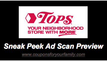tops weekly sales ad and coupons sneak preview starting 317 10 for 10 produce and more Tops Weekly Sales Ad and Coupons –Sneak Preview starting 3/17– 10 for $10 Produce and more