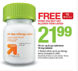Target allergy products