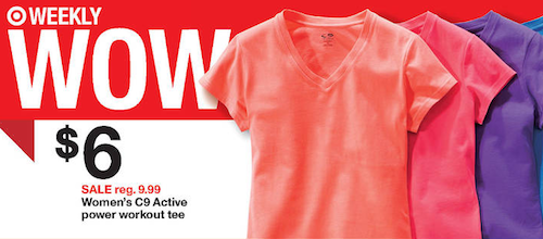 Target C9 tshirts Target: Women's C9 Active power workout tees only $3