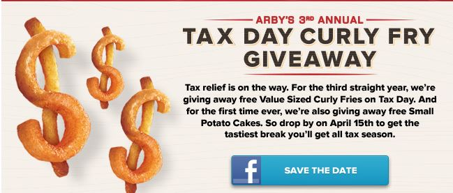 arby2 2013 Tax Day FREEbies Roundup