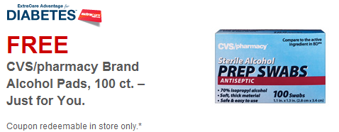 cvs1 FREE CVS Brand Alcohol Pads with Coupon
