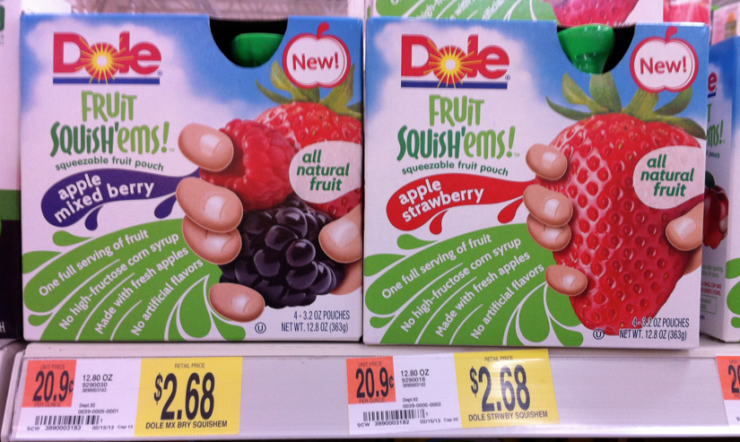 dole pic Dole Fruit Squishems Printable Coupon = 42¢ Pouches at Walmart