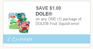 dole q Dole Fruit Squishems Printable Coupon = 42¢ Pouches at Walmart