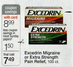 excedrin High Value Excedrin Pain Relief Printable Coupon + Walgreens and Rite Aid Deals Starting 4/14