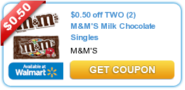 image 17812086 50¢/2 M&Ms Singles Printable Coupon