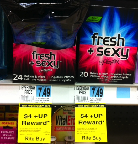 playtex Fresh + Sexy Playtex Wipes Moneymaker Deal at Rite Aid
