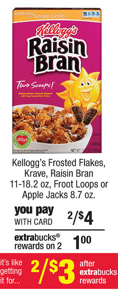 raisin bran cvs New Kelloggs Printable Coupon = $1 Cereal at CVS
