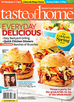 taste of home Taste of Home Magazine Subscription for $4.50 (64¢ per issue)