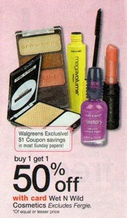 wet BOGO 50% Off Wet N Wild Cosmetics = As Low As FREE at Walgreens
