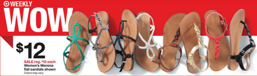 Screen Shot 2013 05 05 at 9.38.29 AM Target: Merona Sandals for just $7