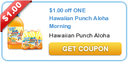 aloha Hawaiian Punch Aloha Morning Printable Coupon + Target and Walmart Deals