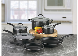 best buy Cuisinart Kitchen Pro 10 Piece Nonstick Cookware Setfor $99.99 Shipped