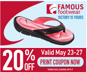 famous Famous Footwear 20% Off Entire Purchase