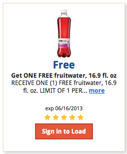 fruitwater Kroger and Affiliate Shoppers: FREE Fruitwater with Digital Coupon (Load Now)