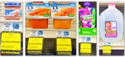 gerber Gerber Baby Food Products and Nursery Water Deals at Rite Aid